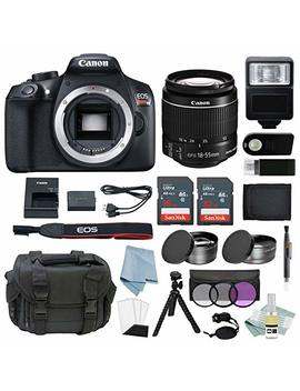 Canon Eos Rebel T6 Bundle With Ef S 18 55mm F/3.5 5.6 Is Ii Lens + Advanced Accessory Kit   Including Everything You Need To Get Started by Who Is Camera