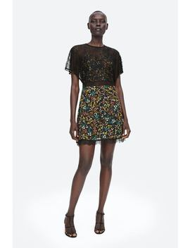 Combined Printed Dress  View All Dresses Woman by Zara