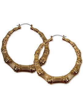 Bamboo Hoop Earrings by Guess