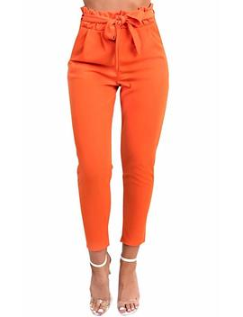 Ikrush Women's Paperbag Tie Tailored Trousers by Amazon