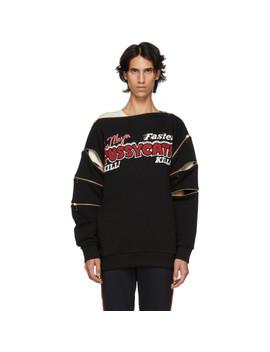 Black 'faster, Pussy Cat! Kill! Kill!' Sweatshirt by Gucci