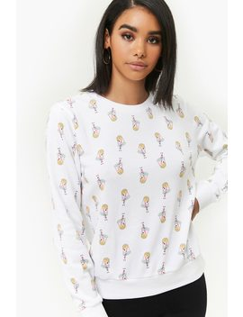 Boba Tea Fleece Pullover by Forever 21