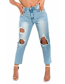 Ikrush Astrid Distressed Mom Jeans by Amazon