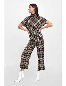Plaid Top With Ruching  Topswoman by Zara