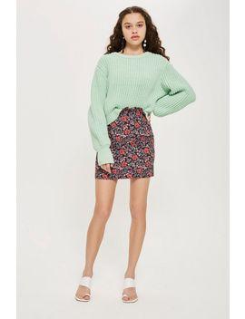 Tall Poppy Jacquard Mini Skirt by Topshop