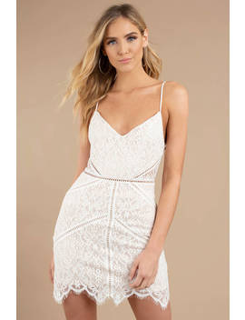 In The Night White Lace Bodycon Dress by Tobi