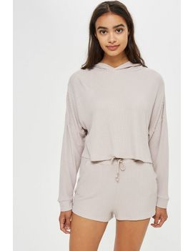 Super Soft Waffle Hoodie by Topshop