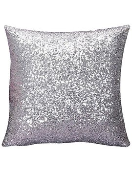 Cushion Glitter Sequins Pillow Case Cafe Home Cushion Cover by Snmy