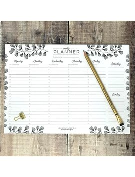 Weekly Planner   A4 Planner   Daily Organiser   Weekly Agenda   Planner Notepad   Desk Pad   Desk Planner by Lomond Paper Co