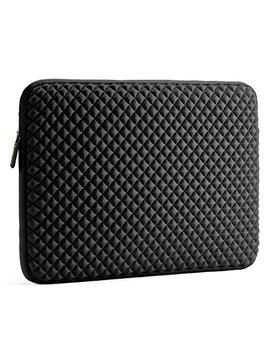 Laptop Sleeve Case Evecase 17 17.3 Inch Diamond Foam Splash & Shock Resistant Neoprene Universal Case Bag For Chromebook Ultrabook Notebook   Black by Evecase
