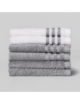 6pk Solid Washcloth   Room Essentials™ by Shop Collections