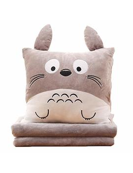 Cartoon Plush Air Condition Blanket Pillow Office Travel Airplane Camping Nap Blanket Portable Summer by Gaorui
