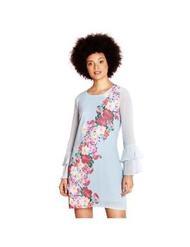 Yumi   Pale Blue Placement Flower 'consuelo' Tunic Dress by Yumi