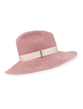 Drake Wool Wide Brim Fedora Hat by Gigi Burris