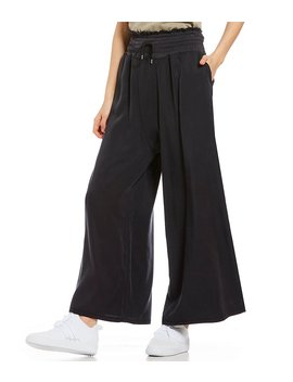 Fp Movement Mia Smocked Waist Wide Leg Pant by Generic