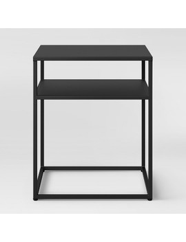 Glasgow Metal End Table Black   Project 62™ by Shop All Project 62™
