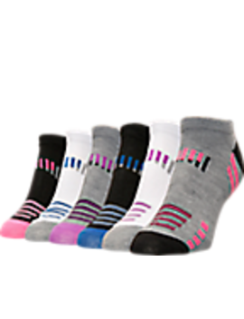 Women's Finish Line No Show Socks 6 Pack by Sof Sole