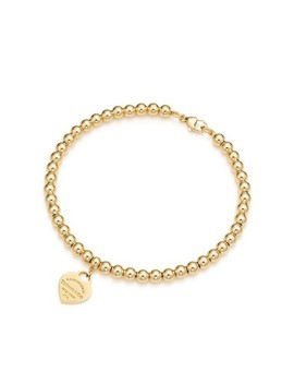 Yellow Gold Return To Heart Bead Bracelet by Tiffany & Co.
