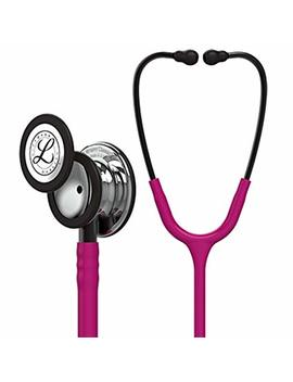 3 M Littmann Classic Iii Monitoring Stethoscope, Rainbow Finish, Raspberry Tube, 27 Inch, 5806 by 3 M Littmann