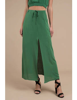 Lofty Dreaming Emerald Maxi Skirt by Tobi