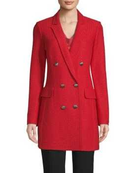 Adina Wool Blend Double Breasted Coat by St. John