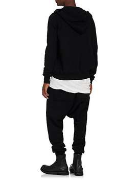 """Jason's"" Cotton Fleece Zip Front Hoodie by Rick Owens Drkshdw"