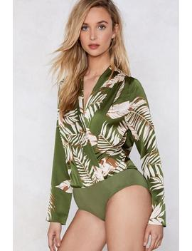 I Plant Quit Your Love Palm Bodysuit by Nasty Gal
