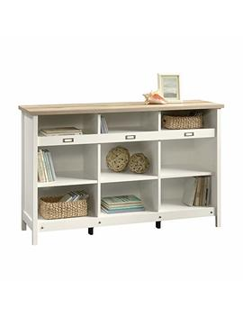 Sauder 417653 Bookcase, Storage Cabinet Adept Soft White Credenza, One Size, Craftsman Oak White by Sauder