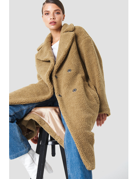Big Collar Teddy Coat by Na Kd Trend