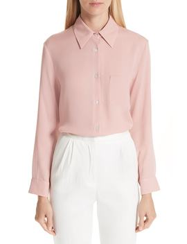 Button Up Silk Blouse by Mansur Gavriel