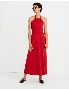 Halter Tie Back Midi Dress In Clipdot by Madewell
