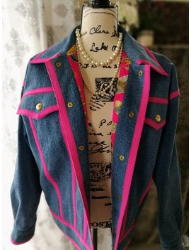 1991 Chanel Boutique Hip Hop Collection Denim Jacket by Etsy