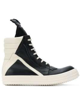 Rick Owens Geobasket Hi Top Sneakershome Men Rick Owens Shoes Hi Tops by Rick Owens
