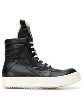 Rick Owenshigh Ankle Boots Home Men Rick Owens Shoes Boots by Rick Owens