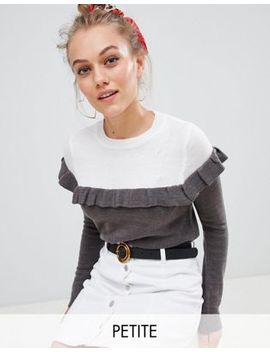 Brave Soul Petite Duo Colourblock Jumper by Asos
