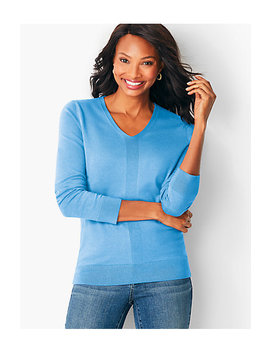 Modern V Neck Sweater by Talbots
