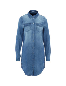 Blue Denim Shirt Dress by Vila