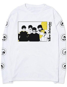 Yellow Submarine Men's Long Sleeve T Shirt By Hybrid Apparel by Hybrid Apparel