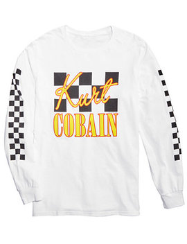 Kurt Cobain Men's Long Sleeve T Shirt By Fea by Fea