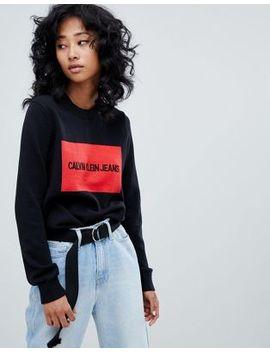 Calvin Klein Jeans Logo Knitwear by Calvin Klein