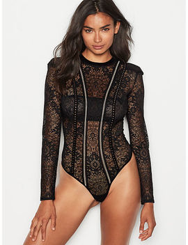 Embellished Lace Bodysuit by Victoria's Secret