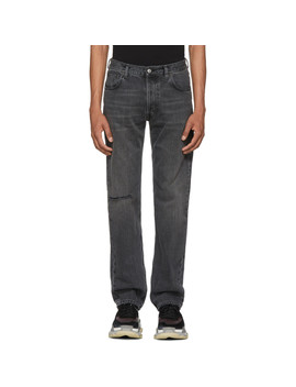 Grey Knee Hole Archetype Jeans by Balenciaga
