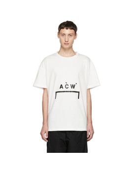 White Bracket Logo T Shirt by A Cold Wall*