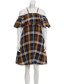 Suno Linen Plaid A Line Dress W/ Tags by Suno