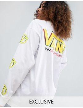Exclusivité Vans   Archive   T Shirt à Manches Longues Et à Imprimé Au Dos   Blanc by Vans