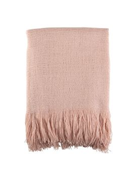 Soft Pink Woven Throw by Generic