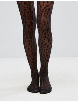 Колготки с леопардовым принтом Asos Design by Asos