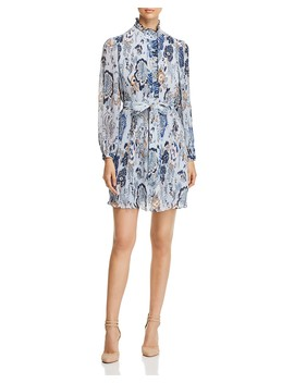 Deneuve Ruffle Trim Floral Print Dress by Tory Burch