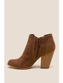 Fergalicious Passport Distressed Ankle Boot by Francesca's