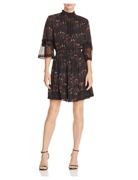 Myra Silk Animal Print Dress  by Kobi Halperin
